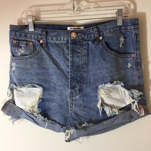 OneXOneTeaspoon high Waisted Denim Shorts